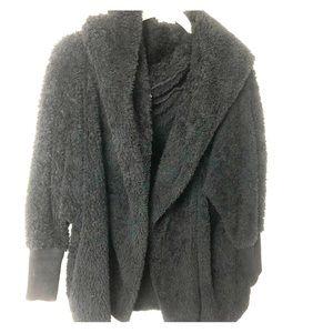 Hooded black sweater